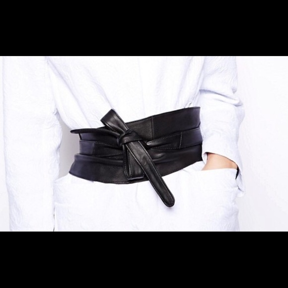 1d3de3f198c Faux Leather Obi Belt